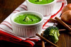 broccoli soup - stock photo
