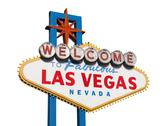 Stock Photo of las vegas sign isolated