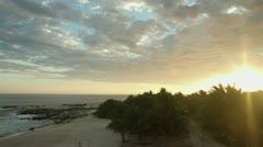 Mexico beach, sunset playa blanca 4k Stock Footage