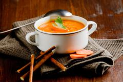 Stock Photo of carrot soup