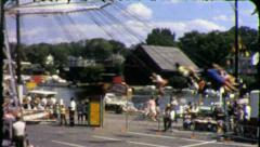 THRILL RIDE! Amusement Park Ride 1960s (Vintage 8mm Film Home Movie) 3883 Stock Footage