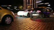 Cars in the night city Stock Footage