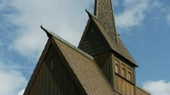 Hoyjord Stave Church Time Lapse - stock footage