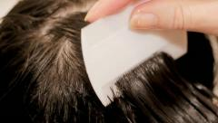 Combing for Headlice - stock footage