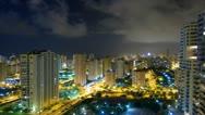 City skyline night time lapse  Stock Footage