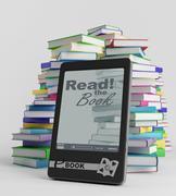 e-book - stock illustration