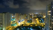 City time lapse. Benidorm at night. Stock Footage