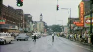 SENECA FALLS Spectators Wait for Parade 1965 (Vintage Old Film Home Movie) 3906 Stock Footage