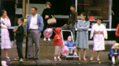CROWD WAITS FOR PARADE 1960 (Vintage Old Film Home Movie Footage) 3907 Stock Footage