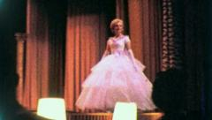 BEAUTY PAGEANT Woman Contestant (Vintage Old Film Home Movie Footage) 3908 - stock footage