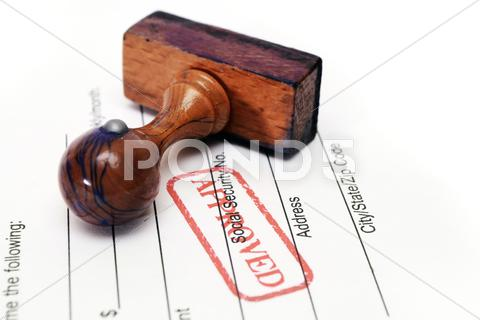 Stock photo of stamp approved