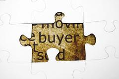 Buyer puzzle concept Stock Photos