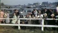KENTUCKY DERBY Spectators RACETRACK 1940s (Vintage Old Film Home Movie) 3927 Stock Footage