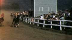 HORSERACE Racing Racetrack Rider Jockey 1940 Gallop Vintage Film Home Movie 3928 Stock Footage