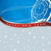 New year abstract card Stock Illustration