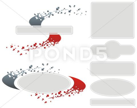 Stock Illustration of abstract diffusion swirl frame