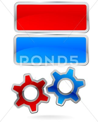 Stock Illustration of gear frame set
