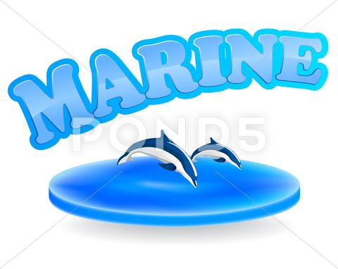 Stock Illustration of marine sign