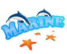 marine sign - stock illustration