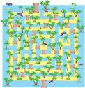 Summer tropical labyrinth Stock Illustration
