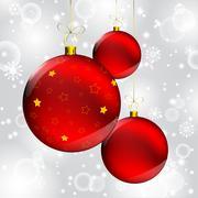 Stock Illustration of christmas ball on abstract winter gray