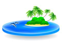 Stock Illustration of tropical island