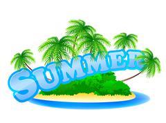 summer sign - stock illustration