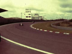Classic grand prix race cars on the Zandvoort track in the Netherlands Stock Footage