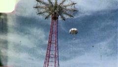 CONEY ISLAND Parachute Jump Amusement Park 1950s Vintage Film Home Movie 3947 Stock Footage
