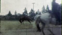 YIPPIE! Cowboy Rides BUCKING BRONCO Rodeo 1950s Vintage Retro Home Movie 3950 Stock Footage