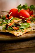 Vegetarian pizza Stock Photos