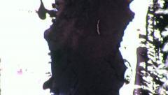 Stock Video Footage of ERODED EMULSION Vintage 8mm Film Leader Texture Loop 3965