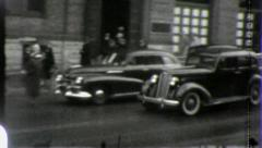 STREET SCENES USA Cars WW2 Era Late 1930s Vintage Retro Film Home Move 3971 Stock Footage