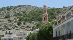 Church in Greece Stock Footage