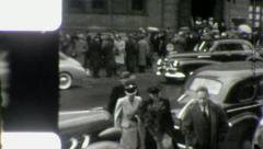 PEDESTRIANS Main STREET SCENES USA Early 1940 Vintage Retro Film Home Movie 3973 Stock Footage