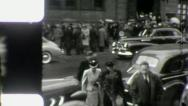 PEDESTRIANS Main STREET SCENES USA Early 1940 Vintage Retro Film Home Movie 3973 Stock Footage