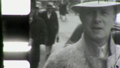 PEOPLE CROWD Walking STREET SCENES USA Early 1940s Vintage Film Home Movie 3977 - stock footage