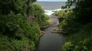 Lower Seven Sacred Pools, Waterfall, Maui, Hana, Hawaii, Stock Footage