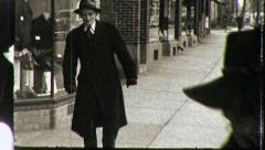Arthritic Old Man STREET SCENE USA Early 1940s Vintage Film Home Movie 3981 - stock footage