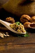 homemade walnut pesto - stock photo