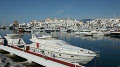 Puerto Banus, Marbella, Spain Stock Footage