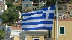 Greek flag Stock Footage