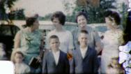 Stock Video Footage of Family REUNION Portrait Kids Moms Cousins 1950s Vintage Film Home Movie 3991