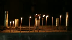 Candles in the church Stock Footage