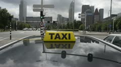 Taxi in a tunnel Stock Footage