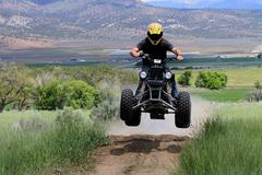 Recreation ATV jump 0954.jpg - stock photo