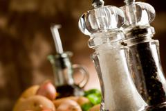 salt and pepper mill - stock photo