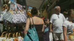 Sorrento shopping 1 (moving shot) Stock Footage