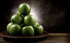 green apple antique style - stock photo