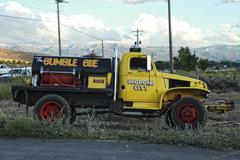 Rural fire truck Moroni Bumble Bee 0736.jpg - stock photo